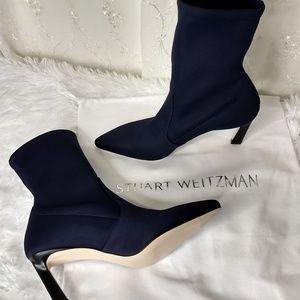 New Stuart Weitzman Navy Blue Boots SZ 6.5M